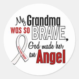 My Grandma Is An Angel Lung Cancer Round Sticker