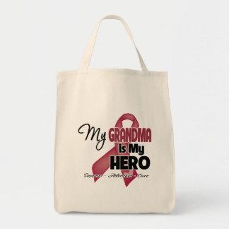 My Grandma is My Hero - Multiple Myeloma Grocery Tote Bag