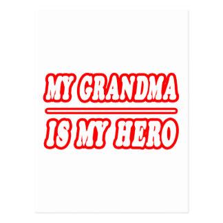 My Grandma Is My Hero Postcards