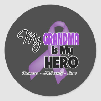 My Grandma is My Hero - Purple Ribbon Sticker