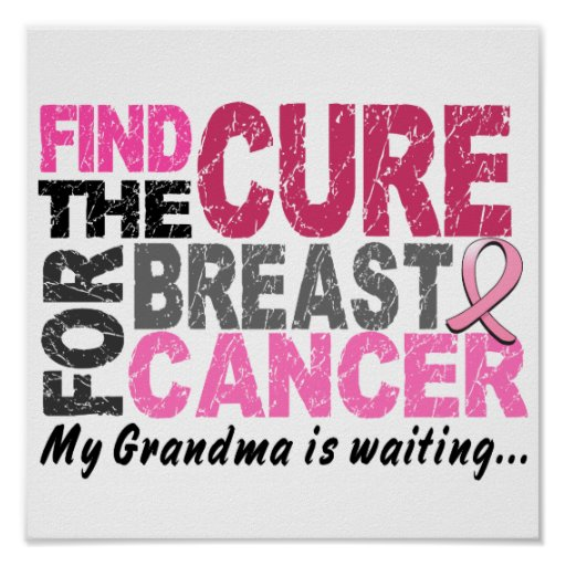 My Grandma Is Waiting Breast Cancer Poster