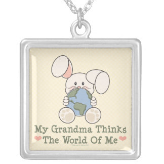 My Grandma Thinks The World Of Me Necklace