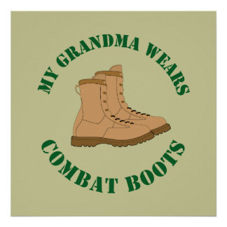 My Grandma Wears Combat Boots - Poster