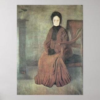 My grandmother by Jozsef Rippl-Ronai Poster