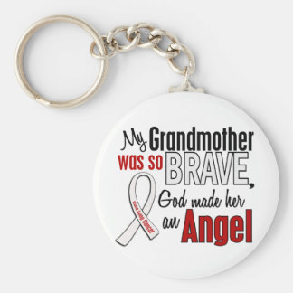 My Grandmother Is An Angel Lung Cancer Basic Round Button Key Ring