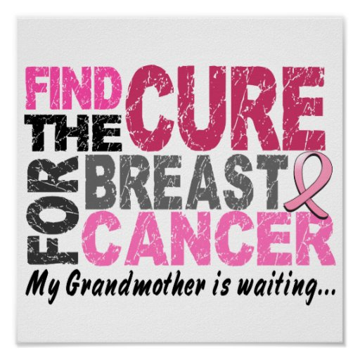 My Grandmother Is Waiting Breast Cancer Print