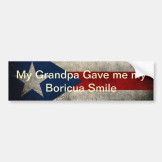 My Grandpa gave me my Boricua Smile Bumper Sticker
