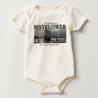 My Grandpa is a Mayflower Descendant Baby Bodysuit