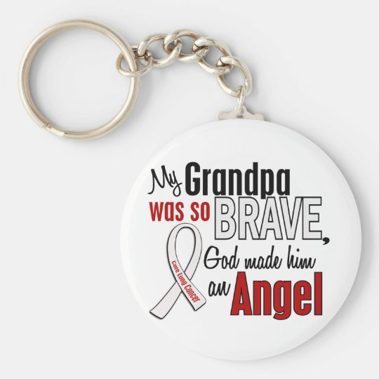 My Grandpa Is An Angel Lung Cancer Key Ring
