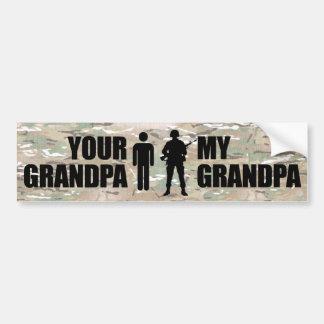 My Grandpa is in the Military Car Bumper Sticker
