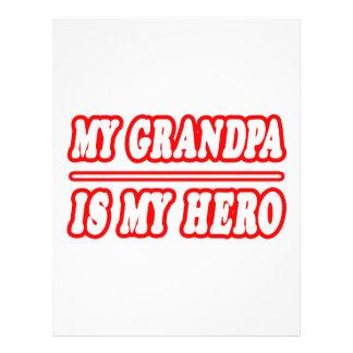 My Grandpa Is My Hero 21.5 Cm X 28 Cm Flyer