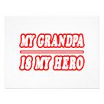 My Grandpa Is My Hero Custom Invitation