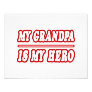 My Grandpa Is My Hero Custom Announcements