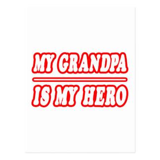 My Grandpa Is My Hero Postcards