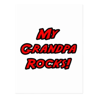 My Grandpa Rocks Postcard