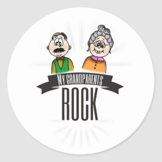 My Grandparents Rock Round Sticker