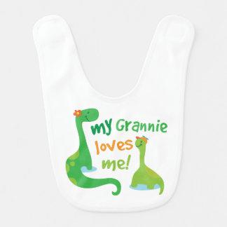 My Grannie Loves Me Dinosaur Bib