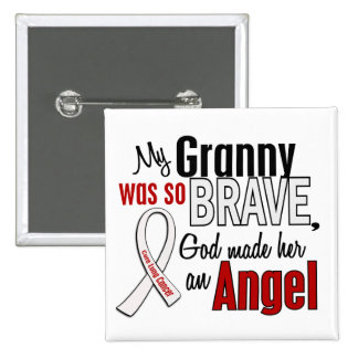 My Granny Is An Angel Lung Cancer 15 Cm Square Badge
