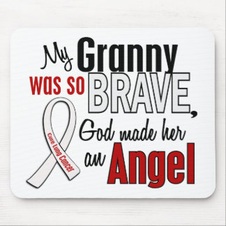 My Granny Is An Angel Lung Cancer Mouse Mat