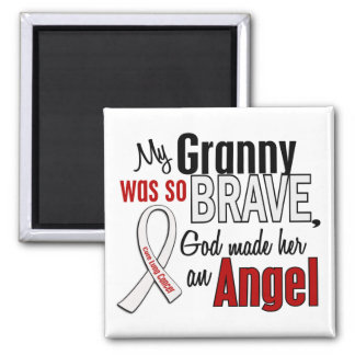 My Granny Is An Angel Lung Cancer Square Magnet