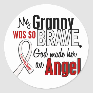 My Granny Is An Angel Lung Cancer Round Sticker