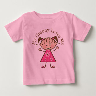 My Granny Loves Me Stick Figure Baby T-Shirt