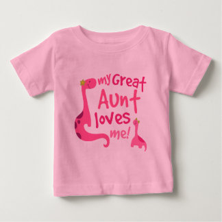 My Great Aunt Love Me Dinosaur Baby T-Shirt