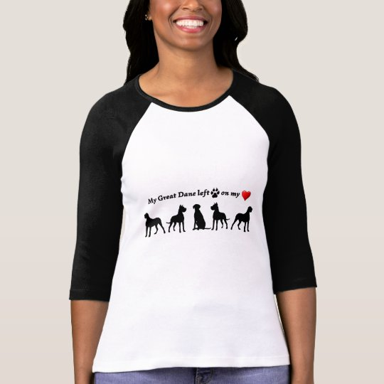 My Great Dane Dog left Footprints on my Heart T-Shirt
