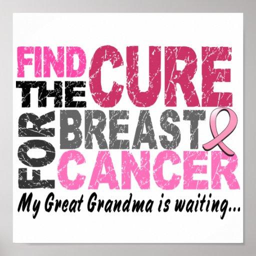 My Great Grandma Is Waiting Breast Cancer Print