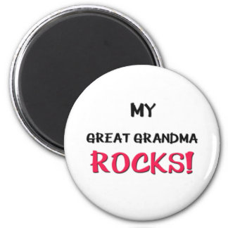 My Great Grandma Rocks 6 Cm Round Magnet