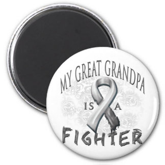 My Great Grandpa Is A Fighter Grey 6 Cm Round Magnet