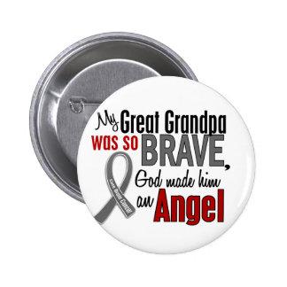 My Great Grandpa Is An Angel 1 Brain Cancer 6 Cm Round Badge