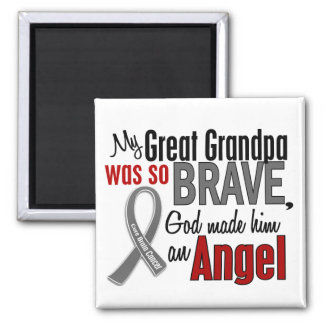 My Great Grandpa Is An Angel 1 Brain Cancer Square Magnet