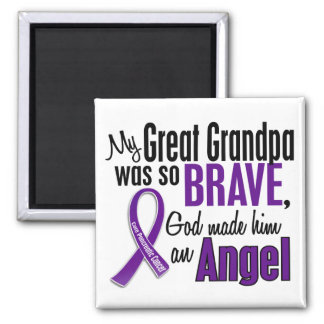 My Great Grandpa Is An Angel Pancreatic Cancer Square Magnet