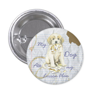 My Great Pyrenees Ate My Lesson Plan 3 Cm Round Badge