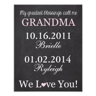 My Greatest Blessings Call Me Grandma Photo Print