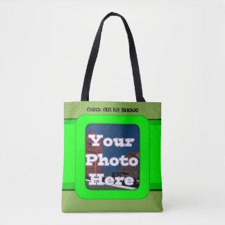 My Green Buckle Tote Bag