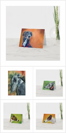 My greyhound art cards