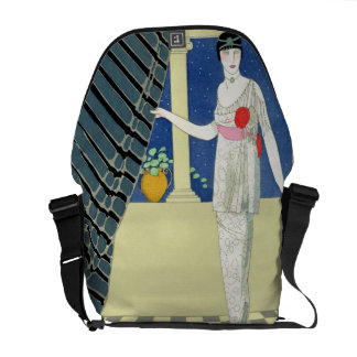 My Guests have not Arrived, illustration of a woma Commuter Bag