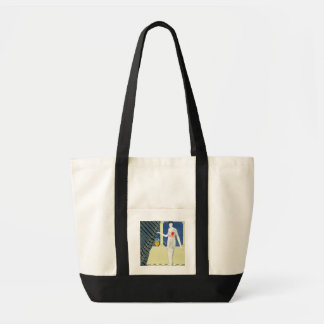 My Guests have not Arrived, illustration of a woma Impulse Tote Bag