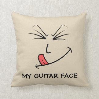 My Guitar Face Music Cushion