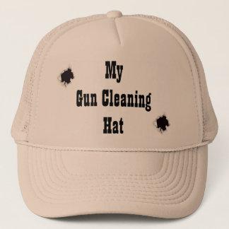 My gun cleaning hat! trucker hat