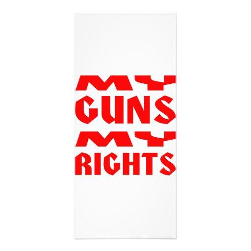 My Guns My Rights Rack Card Design
