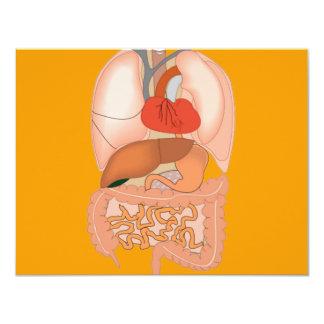 My Guts, Digestive Organs 11 Cm X 14 Cm Invitation Card