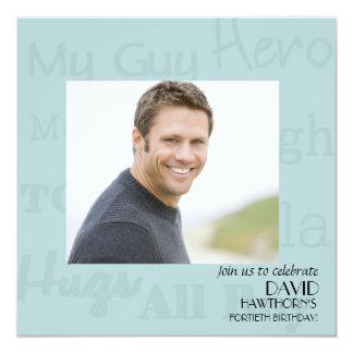 My Guy - Photo Birthday Party Invitation