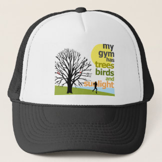 My Gym Has Trees Trucker Hat