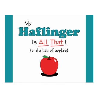 My Haflinger is All That! Funny Horse Postcard