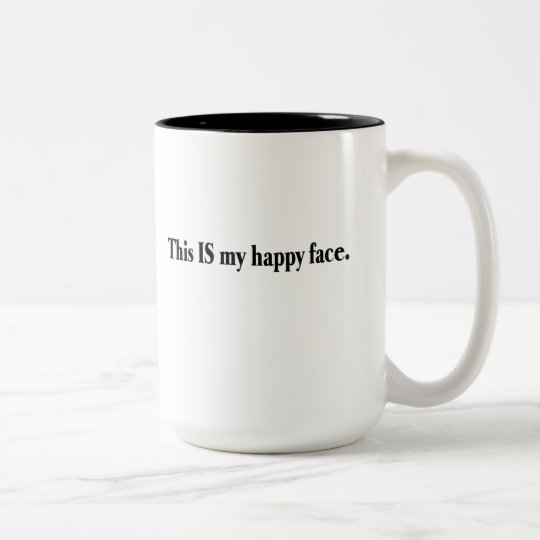 My Happy Face Two-Tone Coffee Mug
