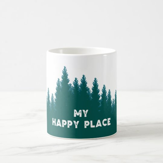 My Happy Place Coffee Mug - Teal Green