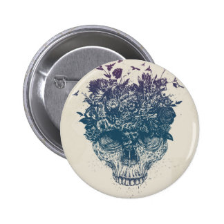 My head is a jungle 6 cm round badge